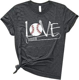 S-Fly Womens Short Sleeve Summer Top Funny Baseball Shirt