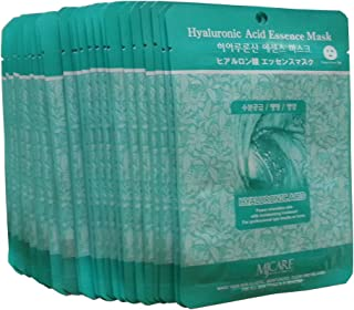 MJ Hyaluronic Acid Essence Face Skin Mask Pack Elastic,Moisturized,Clean,Relaxed 30Pcs (Hyaluronic)