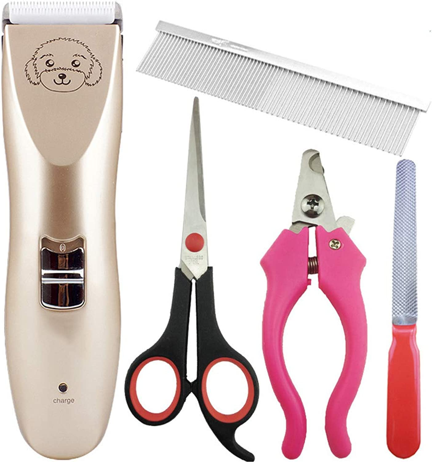 Dog Clippers Grooming Set, Quiet and Comfortable Fur Clipping Set from Trims Fur on Dogs,Cats Other Family Pets