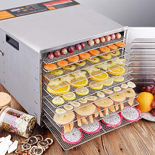 Best Buy! Home Kitchen Cooking 10 Layer Mesh Tray Food Fruit Vegetable Dryer Dehydrator Durable Stai...