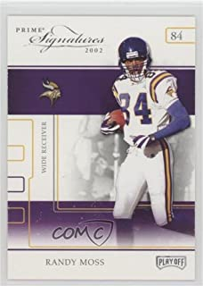 Randy Moss (Football Card) 2002 Playoff Prime Signatures - [Base] - Samples Gold #28