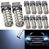 TABEN White 3157 3047 3057 3057A 3155 4057 1210-68SMD LED Bulbs Light 6000K Super Bright Turn Signal Brake Backup Reverse Camper RV Light 12V (Pack of 10)