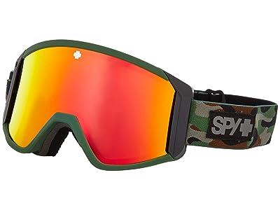 Spy Optic Raider (Camo Hd Bronze w/ Red Spectra Mirror + Hd Ll Persimmon) Snow Goggles