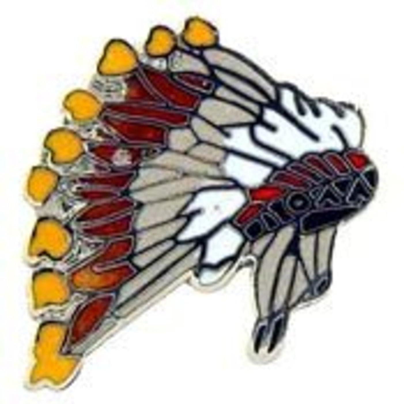 EagleEmblems P00459 Pin-Indian,Head Dress (1'')