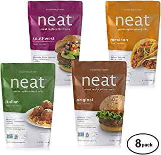 neat Vegan Campout - 32 Servings Equivalent To 8 lbs. Of Meat (5.5 oz.) (Pack of 8)