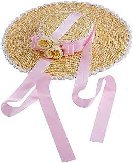 GRACEART Sombrero de Paja para niñas Lolita Té de la Tarde Pastoral Gorra Plegable Floppy Cosplay Sombrero para el Sol