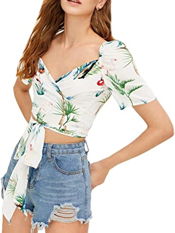 Crop Top Blusas Mujer Moda Joven De Tiras Floral Estampadas ...