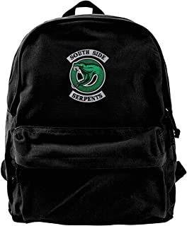 NJIASGFUI Riverdale Serpents Southside Mochila de lona para gimnasio, senderismo, portátil, bolso de hombro para hombres y...