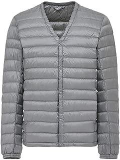 Men's Down Jacket Ultra Light Down Jacket V Neck Lightweight Coat Warm Liner