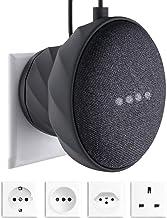 KIWI design Soporte para Home Mini de Google, Soporte Silicona para Pared, Gris Oscuro(Home Mini no está Incluido)
