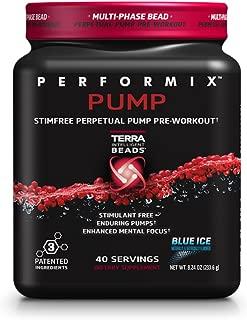 PERFORMIX PUMP Stimfree Perpetual Pump PreWorkout - Stimulant Free, Enduring Muscle Pump, 40 Servings, Blue Ice