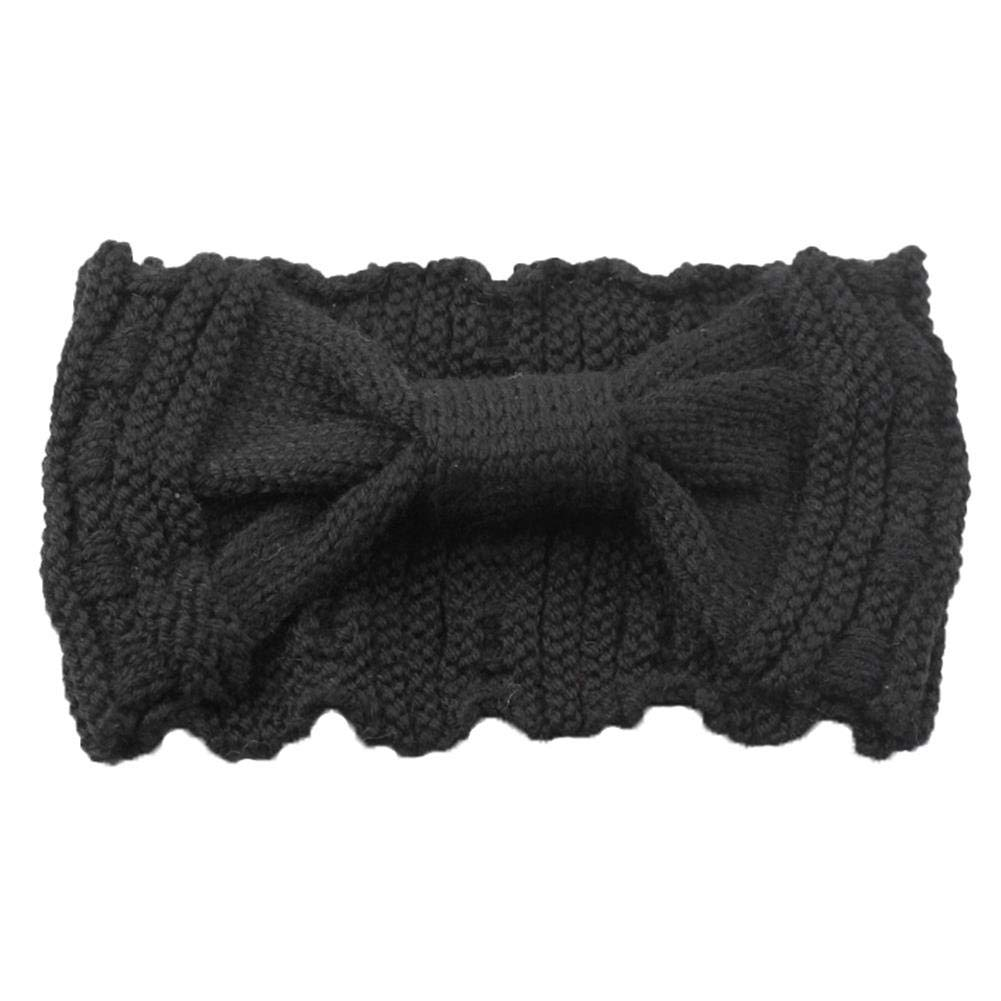 Niocaa multicolor hairband wool new knitted butterfly headband for autumn and winter, sold one by one