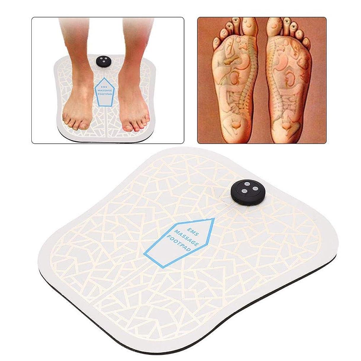 通貨印刷するテスピアン電気EMSフットマッサージャー振動フィットネス理学療法マットは、血液循環筋肉マッサージトレーナーが身体をリラックス推進します