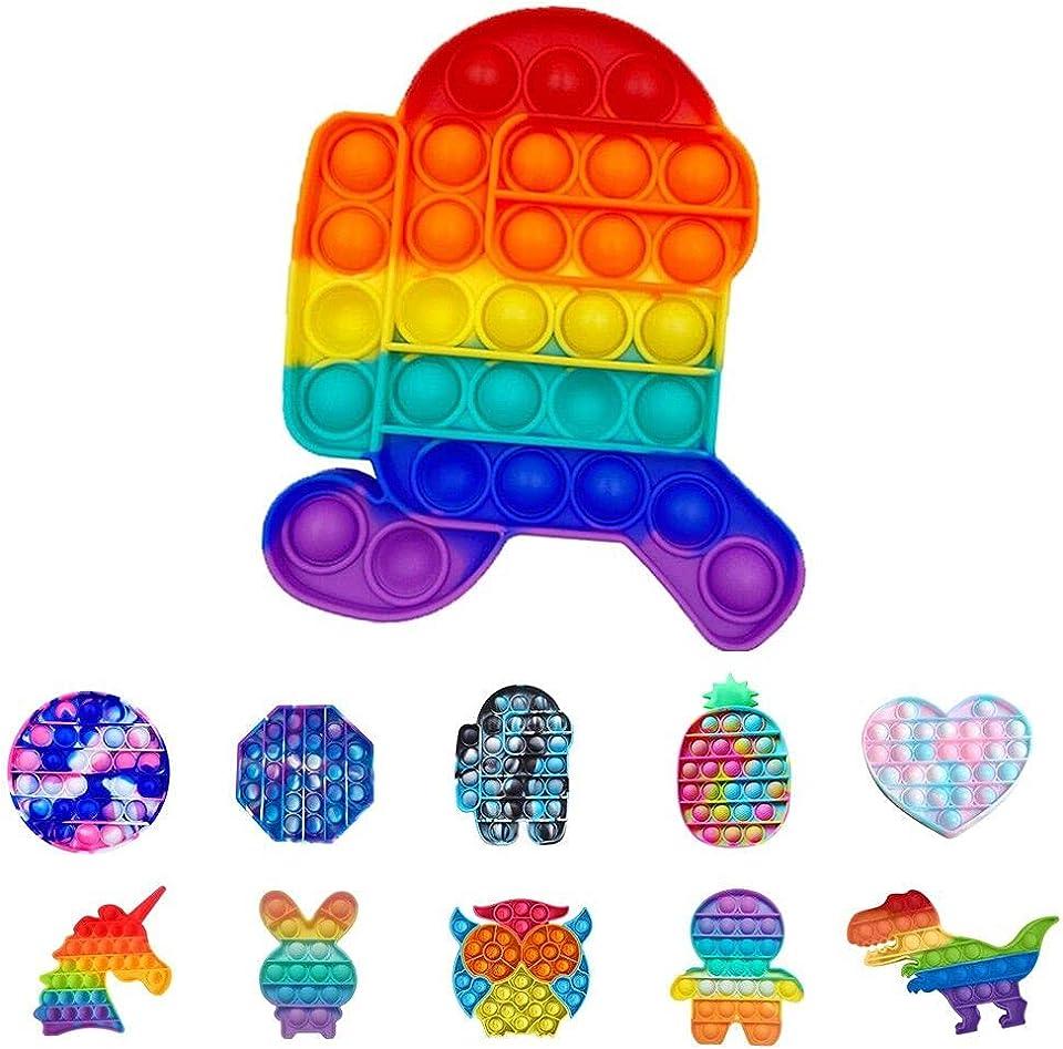 Fidget Toy Pop Push Pop, Pop Bubble Entspannendes sensorisches Anti-Stress-Spielzeug,Sensory Jouet Pousser Pop Blase Pop, Schaum sensorische feste Spielzeuge