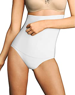 Maidenform Flexees Women's Shapewear Hi-Waist Brief Firm Control, White, Medium