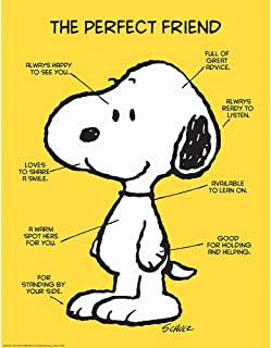 snoopy perfect friend poster