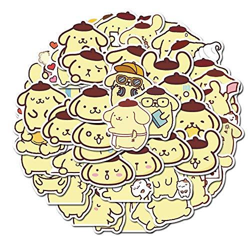 YZFCL Pudding Dog Cute Hand Account Sticker Notebook Tablet Phone Case Suitcase Cartoon Waterproof Sticker 50pcs