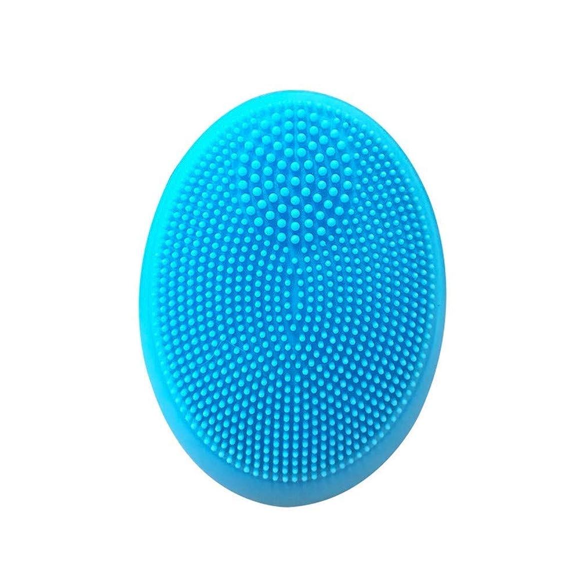 熟す可動式精算LT 強力な電気小型シリコーンの清潔になる器械、携帯用清潔になる毛穴のブラックヘッド(ピンク/青) (Color : Blue)