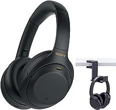 Sony WH-1000XM4 Wireless Noise Canceling Over-Ear Headphones (Black) Knox Gear Headphone Hanger Mount Bundle (2 Items)