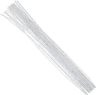 DECORA 20 Gauge White Floral Stem Wire 16 inch,50/Package