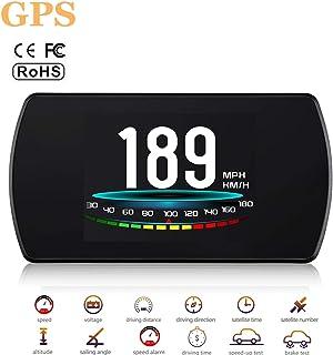 ACECAR Upgrade T800 Universal Car HUD Head Up Display Digital GPS Speedometer with Compass Driving Latitude and Longitude ...