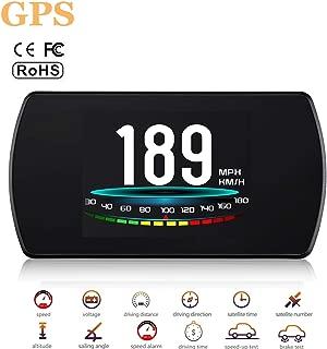 ACECAR Upgrade T800 Universal Car HUD Head Up Display Digital GPS Speedometer with Compass Driving Latitude and Longitude Speedup Test Brake Test Overspeed Alarm 4.3