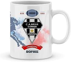 Mug Brive Rugby Top 14 à personnalisé avec votre prénom - Cadeau personnalisé rugby top 14 Brive - Cadeau anniversaire - C...