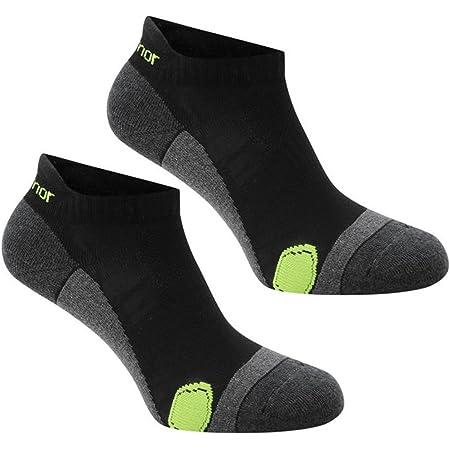 Pack of 2 Pairs Mens Karrimor Running Socks Low Rise Trainer Gym Anti Odour (Mens 7-11, Black/Fluo)