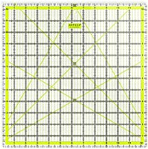 ARTEZA Quilting Ruler, Laser Cut Acrylic Quilters' Ruler with Patented Double Colored Grid Lines for Easy Precision Cutting, 12.5