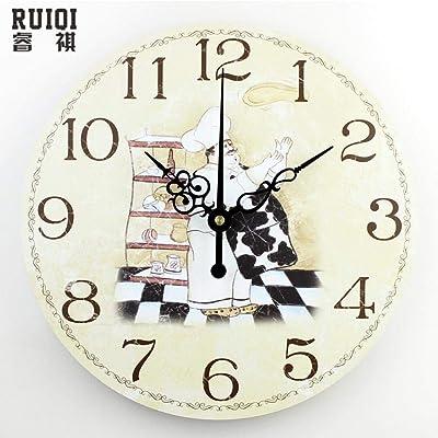 Hakazhi Inc Absolutely Silent Quartz Wall Clock Kitchen Home Hours Decoration Modern Vintage Watch Wall Reloj