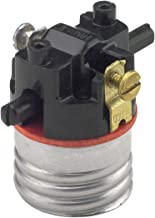Leviton 7080-M Medium Base Interior Only, Shell Incandescent Lampholder, Push-Through, Single Circuit