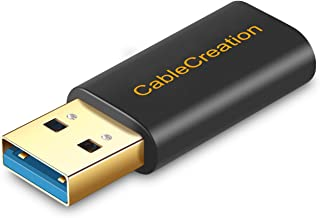 USB 3.0 to USB-Cアダプタ, CableCreation Type 3.0 - Type C変換コネクタ データ転送及び充電対応 USB-C充電ケーブル、ラップトップ及び壁面充電器など対応 ブラック