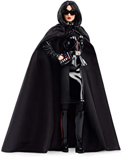 Barbie Collector Star Wars Darth Vader x Barbie Doll, 11.5-inch Wearing Black Peplum Top, Cape and Skirt, with Doll Stand and Certificate of Authenticity