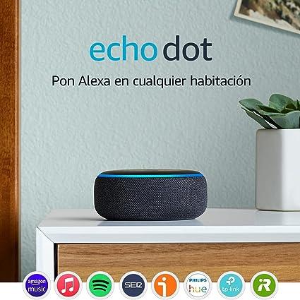 Image of Echo Dot (3.ª generación) - Altavoz inteligente con Alexa, tela de color antracita