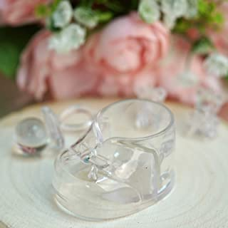BalsaCircle 36 pcs Clear Plastic Booties Baby Shower Favor Holders - Wedding Party Accessories Decorations Candy Supplies Gift
