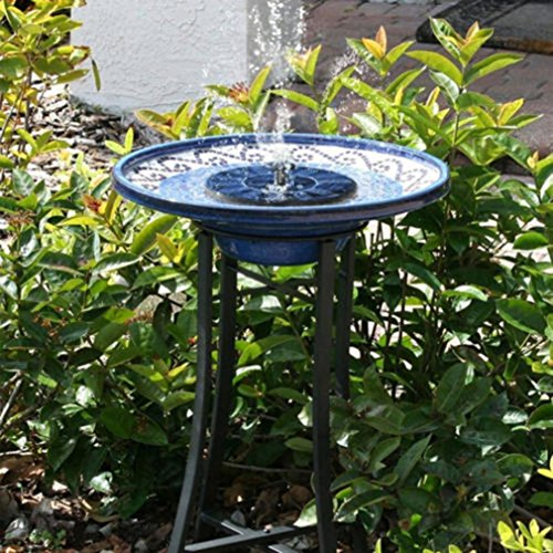 Twifer waterfonteinpomp op zonne-energie voor vogelbaden, zwembad, tuin, aquarium