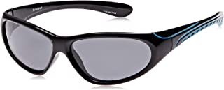 TFL 203011-BlackBlue Wrap Boy's Sunglasses, Black & blue