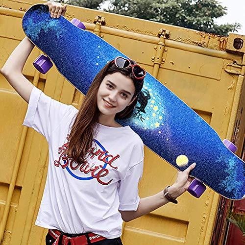 TYXTYX Deluxe Longboard | Komplettboard mit ABEC-11 Kugellagern | Drop-Through bis 118 cm, komplett montiert für Jungen Mädchen Skateboards Erwachsene Kinder Anfänger Bürsten Straßenbrett