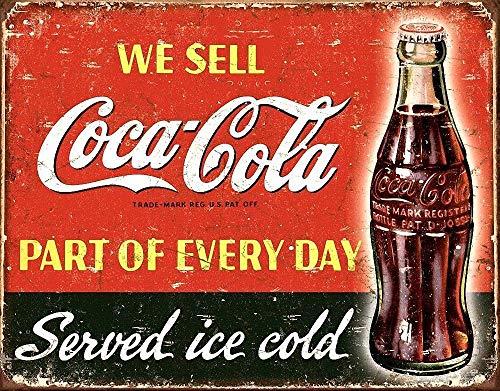 Coke Coca Cola Póster de Pared Metal Creativo Placa Decorativa Cartel de Chapa Placas Vintage Decoración Pared Arte Muestra para Bar Club Café