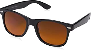 zeroUV - Blue Blocking Driving Horn Rimmed Sunglasses Amber Tinted Lens 54mm