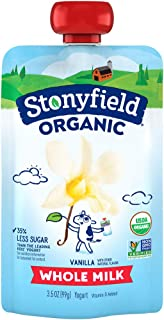 Stonyfield Organic Kids Pouch, Vanilla, 3.5 oz