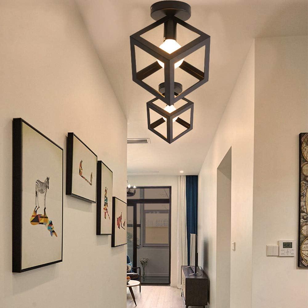 comedor,recibidor pasillo,sala de estudio,oficina,dormitorio,cocina,sala de estar. pantalla negra de estilo industrial vintage,para entrada L/ámpara de techo de montaje semi empotrado Chao Zan