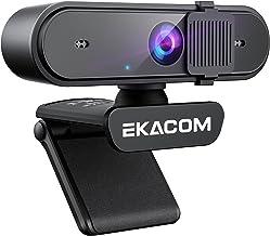Webcam mit Mikrofon, EKACOM 1080P HD Webcam mit Autofokus und Abdeckung, Web Kamera USB Plug & Play, für Streamen von Onli...