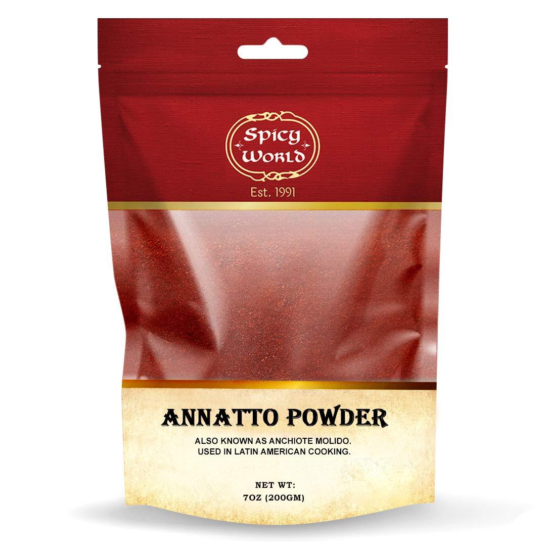 Spicy World Annatto Powder Baltimore Mall 7 Oz Austin Mall Achio - Bag Seed Ground
