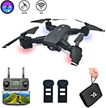 $179 » B-Qtech GPS Drone with 2K FHD Camera for Adults 5G Foldable RC Quadcopter with WiFi Real-time Transmission Live Video 120°Wide Angel Camera GPS A Key Return with 2 Batteries and Carrying Case