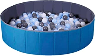 WWS Ball Pit for Kids / Baby Play Yard / Baby Playpen / Fence for Baby, Folding Portable, No Need Inflate, More Than 12 Sq.ft Play Space, Two Color(Blue)