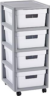 CURVER Infinity 4x 10L Carrito con Cuatro cajones Roll Container–Carro Auxiliar