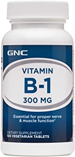 GNC Vitamin B-1 300mg, 100 Tablets, Essential for Proper Muscle Function
