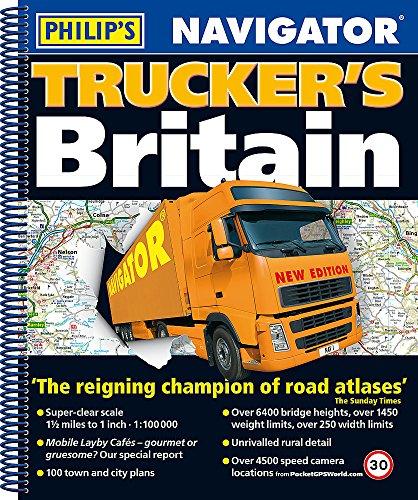 Price comparison product image Philip's 2018 Navigator Trucker's Britain: Spiral (Philips Road Atlas)