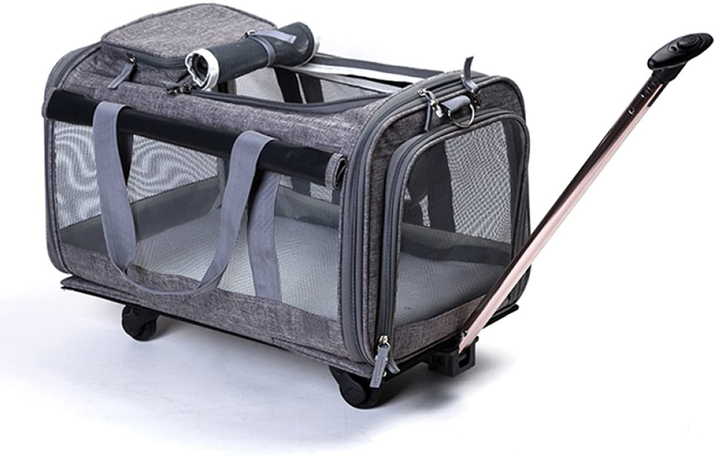 CAIJJ WLQ Pet Trolley Case  Detachable Bag  Dog Out Pack  Car Carrier Portable Cat Bag  Pet Shoulder Bag